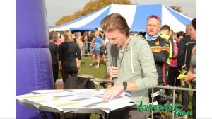 Joey, speaker tijdens de 10e Blubberrun in Vorden.